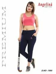 Ladies Cotton Track Capri