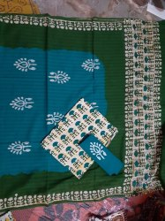 Handmade Block Prints Cotton Kantrax Batik prints dress material, Size: Medium