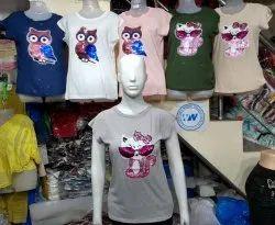 Designer Patch Work Girls T-Shirt Top