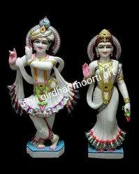 Radha Krishna Idol Marble Statue