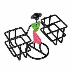 Black Rectangular Iron Holder, for Decoration