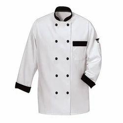 White Cotton, Polyester Chef Uniform