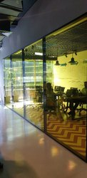 Modular Double Glass Partition System