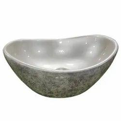 Ceramic Printed Designer Table Top Wash Basin, For Bathroom