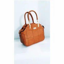 Brown Ladies Party Wear Hand Bag