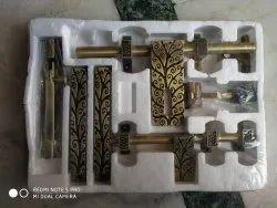 Wooden Door Kit Complete with Aldrop, Latch, Window Handle 2 No, Door Stoper, Tower Bolt