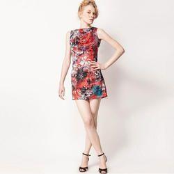 Satin Casual Wear Tunic Dress Design