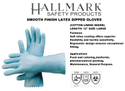 Latex Supported Glove With Cotton Lining Inside