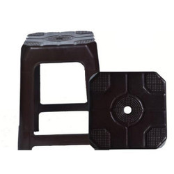 Black Diya Seating Solutions Plastic Stool for Home, Hotel