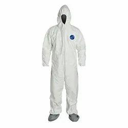 Disposable Coverall Including Shoe Cover without Seam Sealing