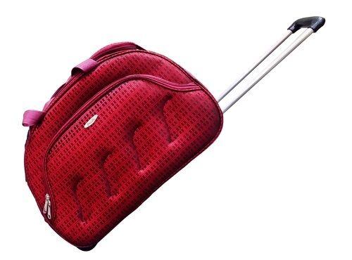 Fabric Maroon Pride Curve Duffel Bag fd46ad480ac68