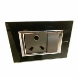 Plastic Curve Switch Socket, ON/OFF, for Home