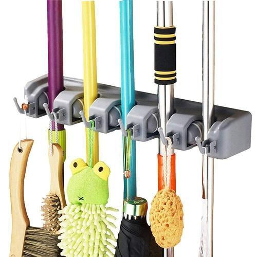 Deodap Magic Holder Broom & Mop Organizer Heavy Quality Mop & Broom Holder