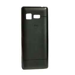 Jio Black PU Mobile Back Cover, Packaging Type: 15-17gm