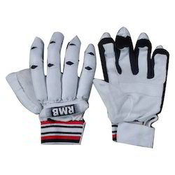 White Cricket Batting Gloves