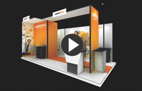 Insta Portable Exhibition Kit : Creeya modular exhibition systems and butter fly podiums