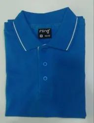 Men's Cotton Blue Collar T-Shirt