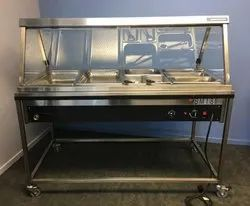 Bain Marie Glass Counter