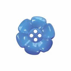 Blue Flower Shape Nylon Buttons