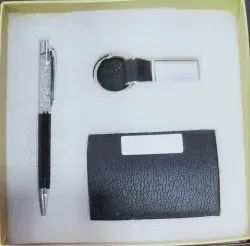 Corporate Gift 3 in 1 Card Holder, Pen, Key Chain