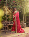 Silk Heavy Embroidery Saree MLQUEEN108