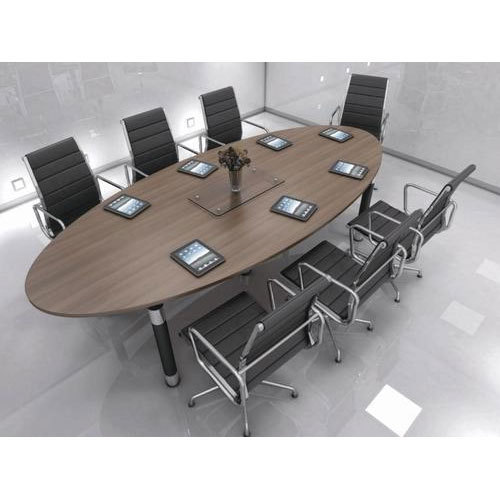 Wooden Brown Base Modern Conference Table Rs 530 Square Feet Id