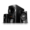 2.1 Black Philips Mms6080b/94 Multimedia Speakers