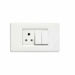 ABB White Plastic Modular Switch, 260 V