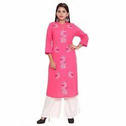 Pink Cotton Flex Kurti