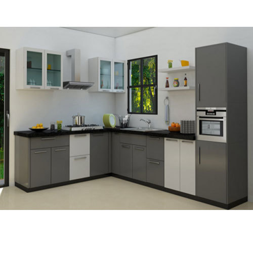 L Shaped Modular Kitchen At Rs 1000 /square Feet