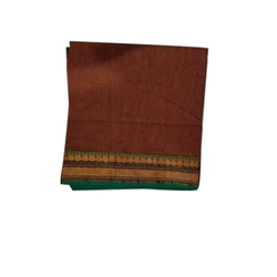 Printed Fancy Cotton Saree, With blouse piece, Packaging Type: Plastic Bag