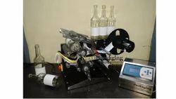 Semi Automatic Round Bottle Sticker Labeling Machine