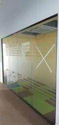 Frameless Modular Glass Partition