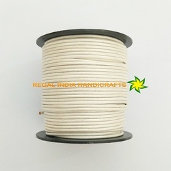 Metallic Pearl White Round Leather Cord