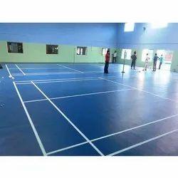 Topflor Indoor Synthetic Flooring Indoor PVC Sports vinyl Flooring, For Inddor Bandminton Courts