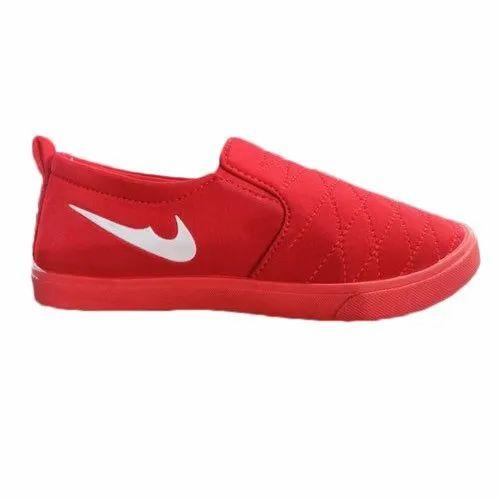 Casual Red Men Lofar Shoes, Size: 6-10