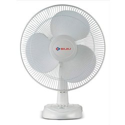 White Electric Bajaj Table Fan