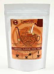 Zingysip Natural Pista Tea ( 250 Gm.) With Burnt Sugar - Serve Hot Or Cold