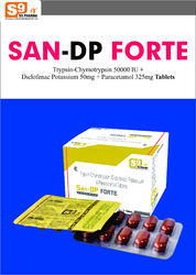 Diclofenac Potassium 50mg Paracetamol 325mg Trypsin Chym