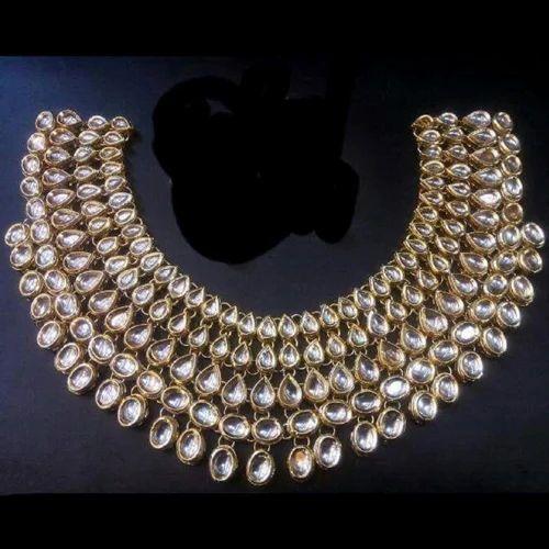 f999de6459e Plated Kundan Necklace New Jewelry Set at Rs 2200 /set   Kundan ...