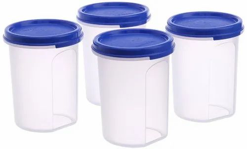 Transparent White, Blue Tupperware Plastic Microwavable Container, Capacity: 500 Ml To 3 Ltrs