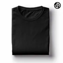 Plain Black 180 GSM Cotton T Shirt
