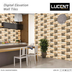 Stone Wood Outdoor Wall Tiles, Size: 12X18 , Thickness: 5-10 Mm