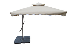 Patio Umbrella-Side Pole-Pull Push-2.5M-Dark Beige