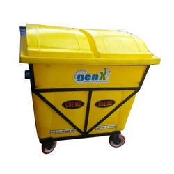FRP Yellow Garbage Trolley