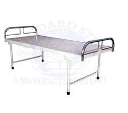 standard steel White Hospital Plain Bed, Size: 72x36x24