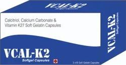 Calcitriol Calcium Carbonate and Vitamin K27 Soft Gelatin Capsules