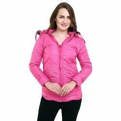Full Sleeve Regular Wear Girls Jacket With Fur