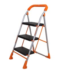 Advance Safety Technology Orange Series Pollux Heavy Duty Metal 3 Step Folding Ladder