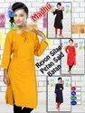 Rayon Side Button Style Kurti